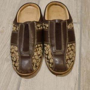 Coach slip on casual shoes
